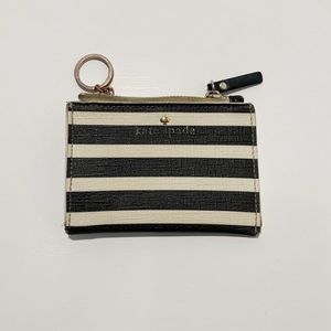 Well Loved Kate Spade Striped Keyring Coin Purse